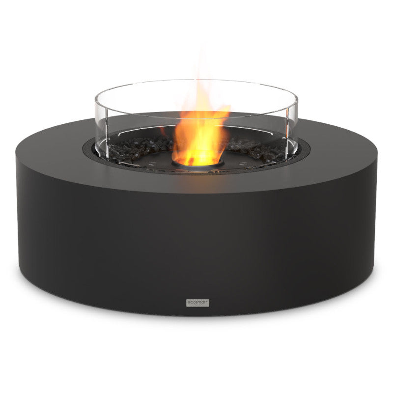Ark 40 ethanol fire pit table graphite black