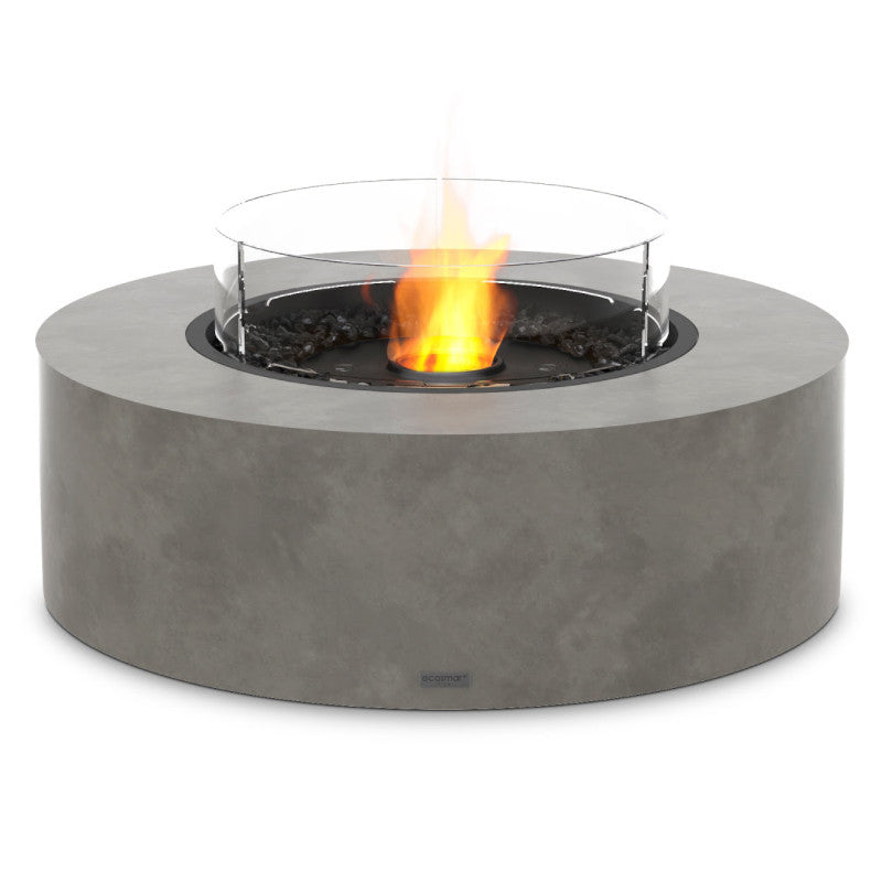 Ark 40 ethanol fire pit table natural black