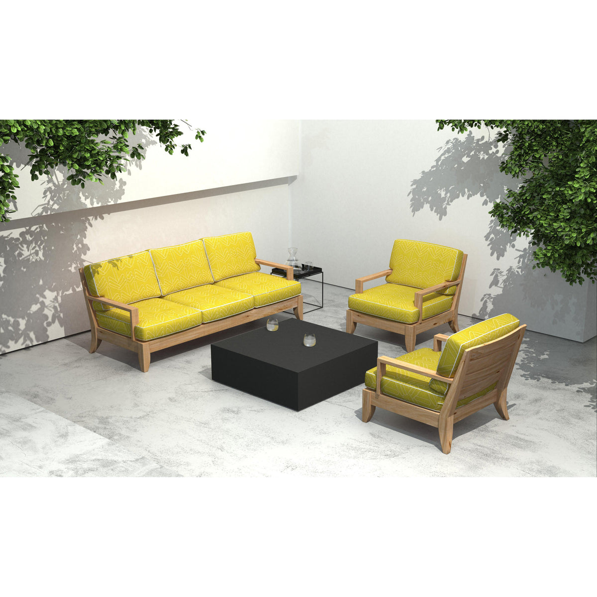 Bloc L4 Concrete Coffee Table - Outdoor Living Essentials