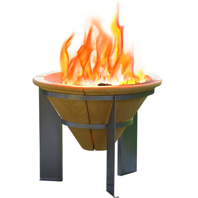 Comfy Brazier Fire Pit + Free Grill - Outdoor Living Essentials