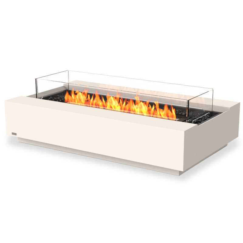 Cosmo 50 ethanol fire pit table bone black