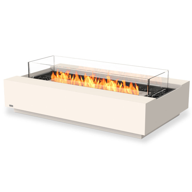 Cosmo 50 ethanol fire pit table bone