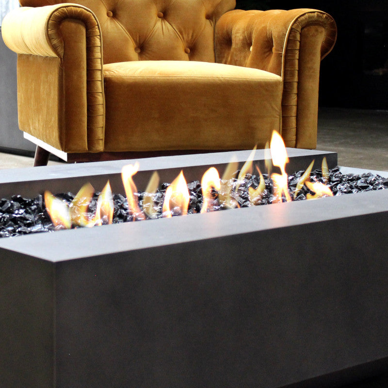 Cosmo 50 ethanol fire pit table close up