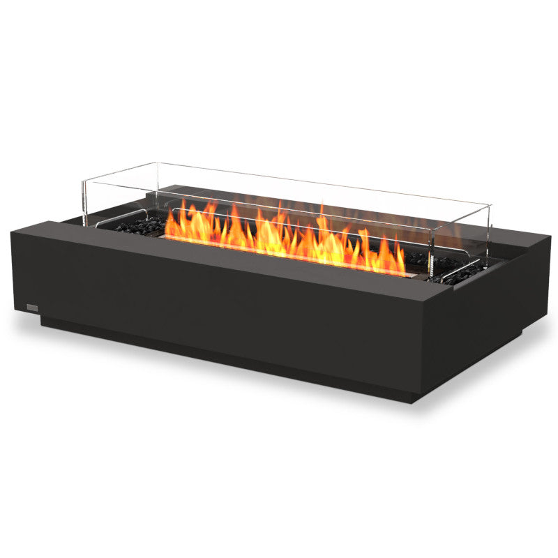 Cosmo 50 ethanol fire pit table graphite black