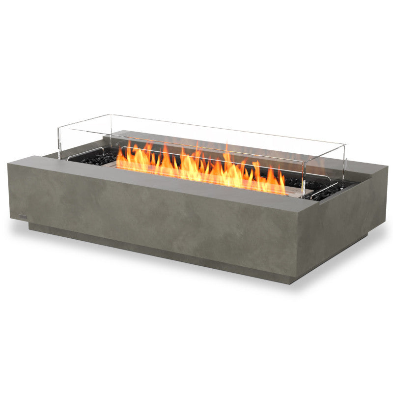 Cosmo 50 ethanol fire pit table natural