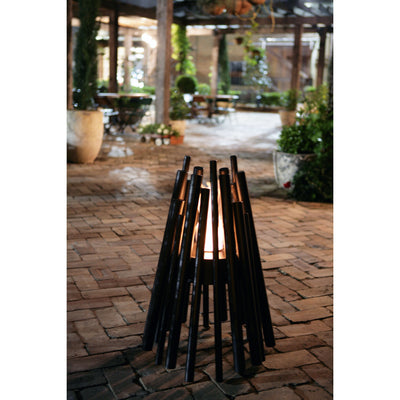 Stix Ethanol Fire Pit, Black - Outdoor Living Essentials