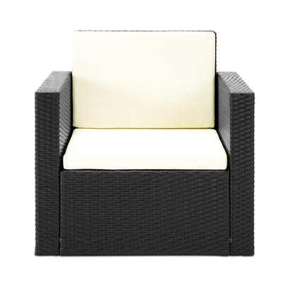 Selwyn Outdoor Lounge Set, Black - Outdoor Living Essentials