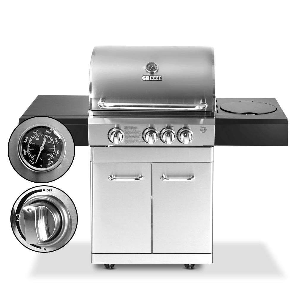Woodland Stainless Steel 4 Burner BBQ - Outdoor Living Essentials
