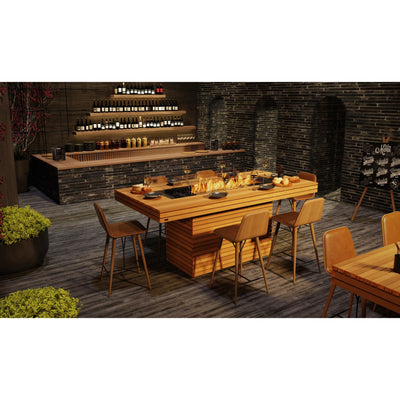 Gin 90 Bar Ethanol Fire Table