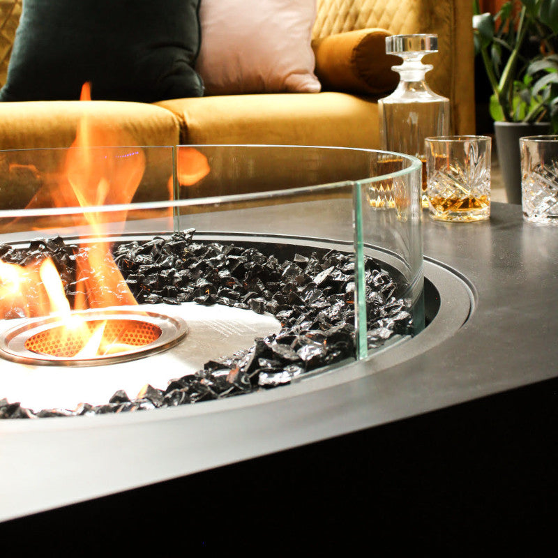 martini 50 ethanol fire pit table close up 2