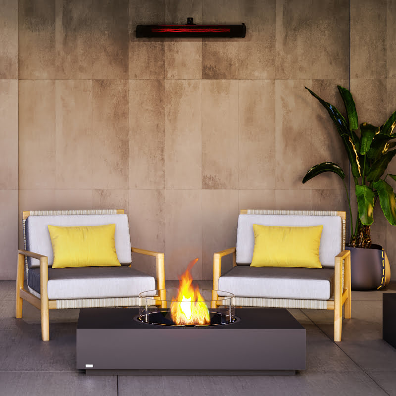 Martini 50 ethanol fire table graphite