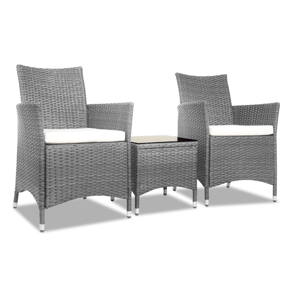 Addison Outdoor Balcony Set, Grey - Outdoor Living Essentials