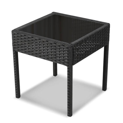 Dryden Outdoor Balcony Set, Black - Outdoor Living Essentials