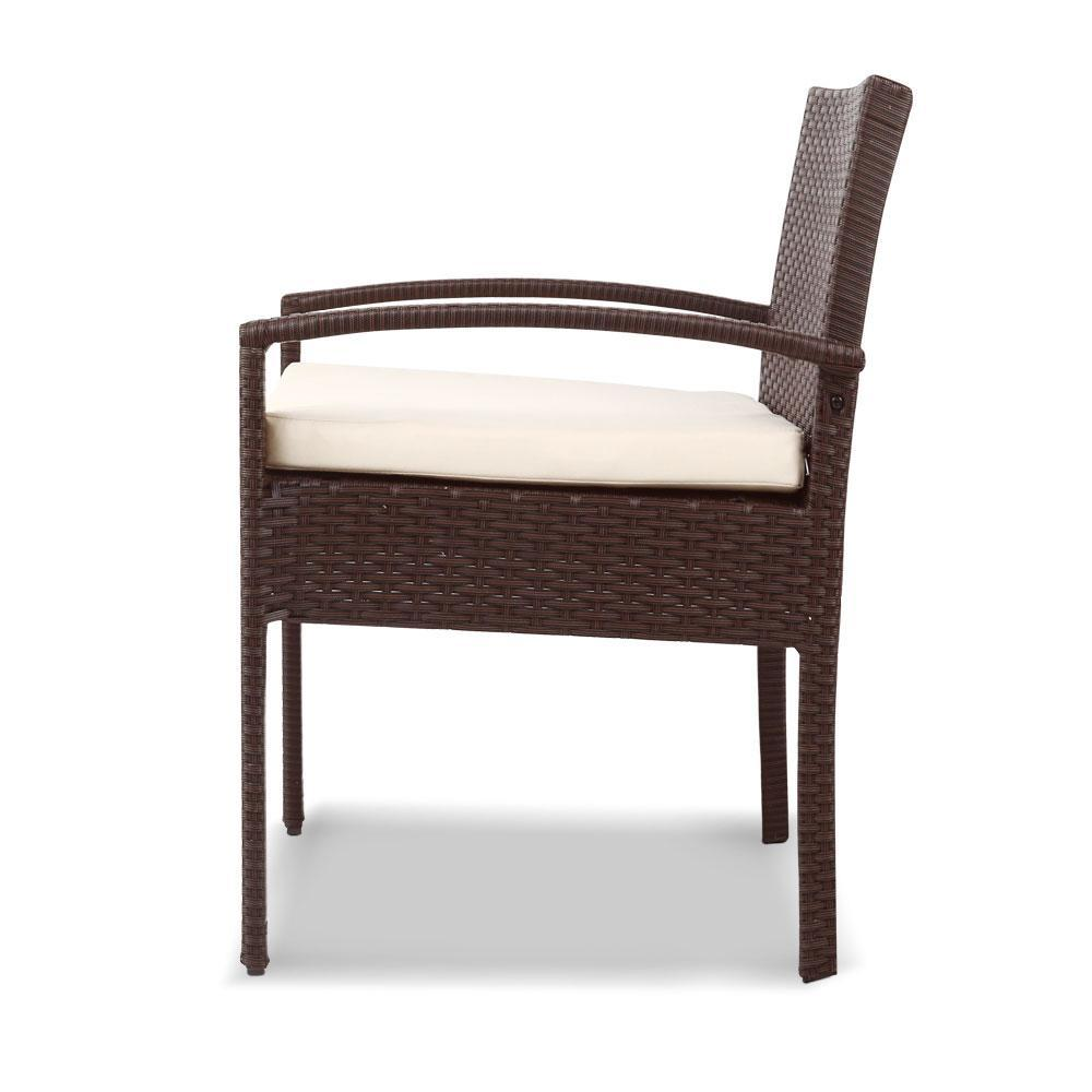 Dryden Outdoor Balcony Set, Brown - Outdoor Living Essentials