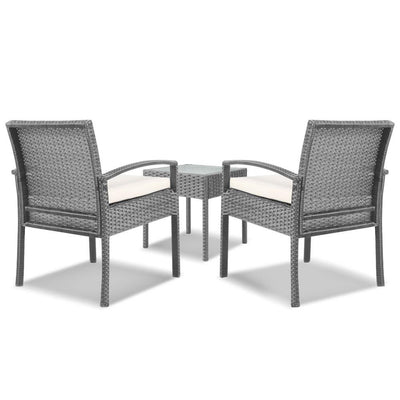 Dryden Outdoor Balcony Set, Grey - Outdoor Living Essentials