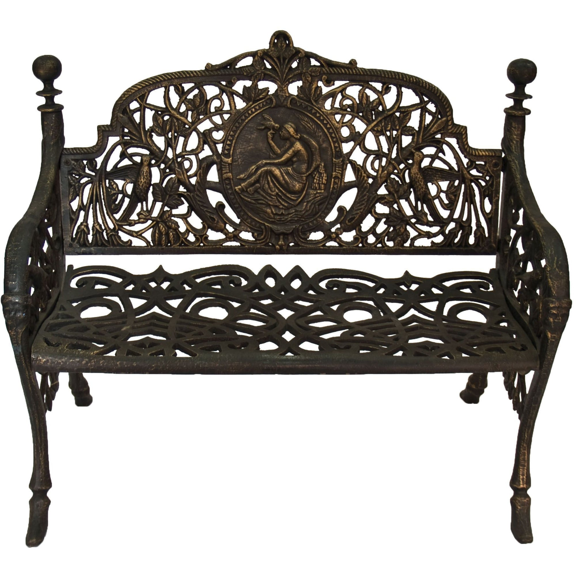 Small Cameo Cast Iron Bench - Outdoor Living Essentials