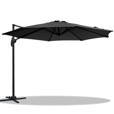 Daley Outdoor Umbrella, Black - Outdoor Living Essentials
