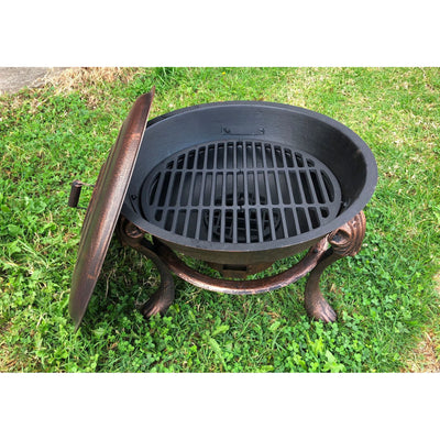 Vesuvius Fire pit BBQ With Lid