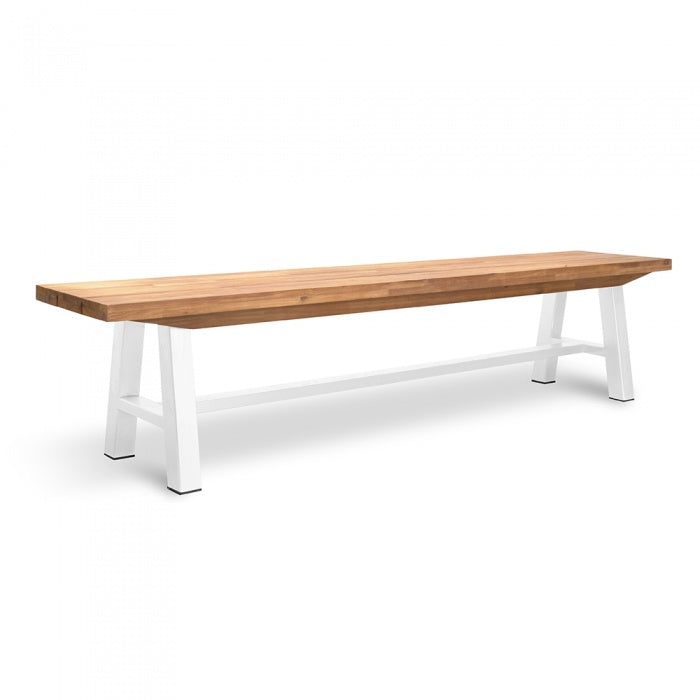 Outdoor Bench - White Legs - Outdoor Living Essentials