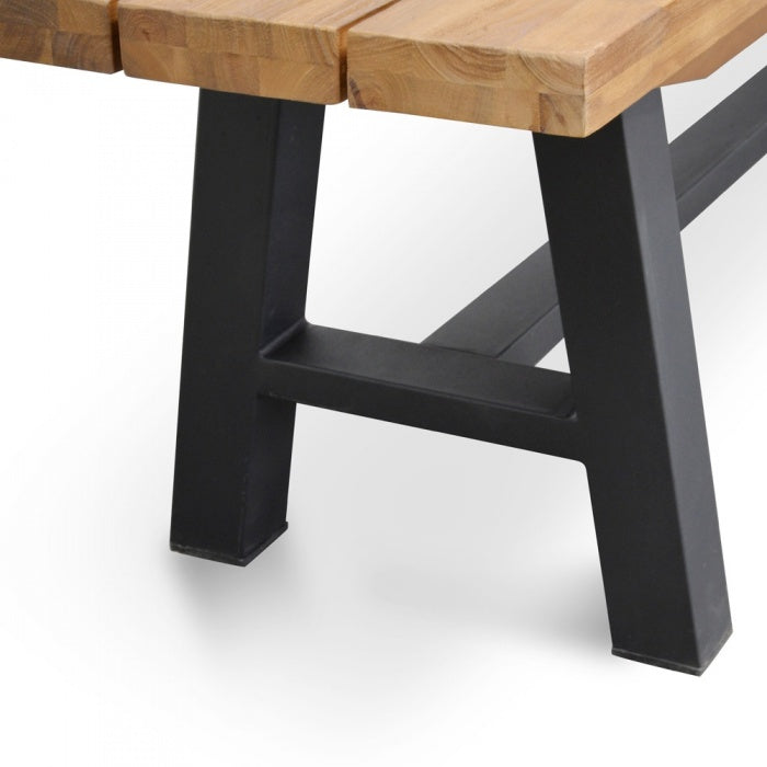 Outdoor Bench - Black Legs - Outdoor Living Essentials