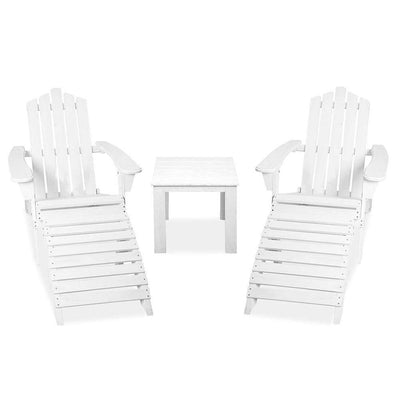 Bayview Sun Lounge Set, White - Outdoor Living Essentials