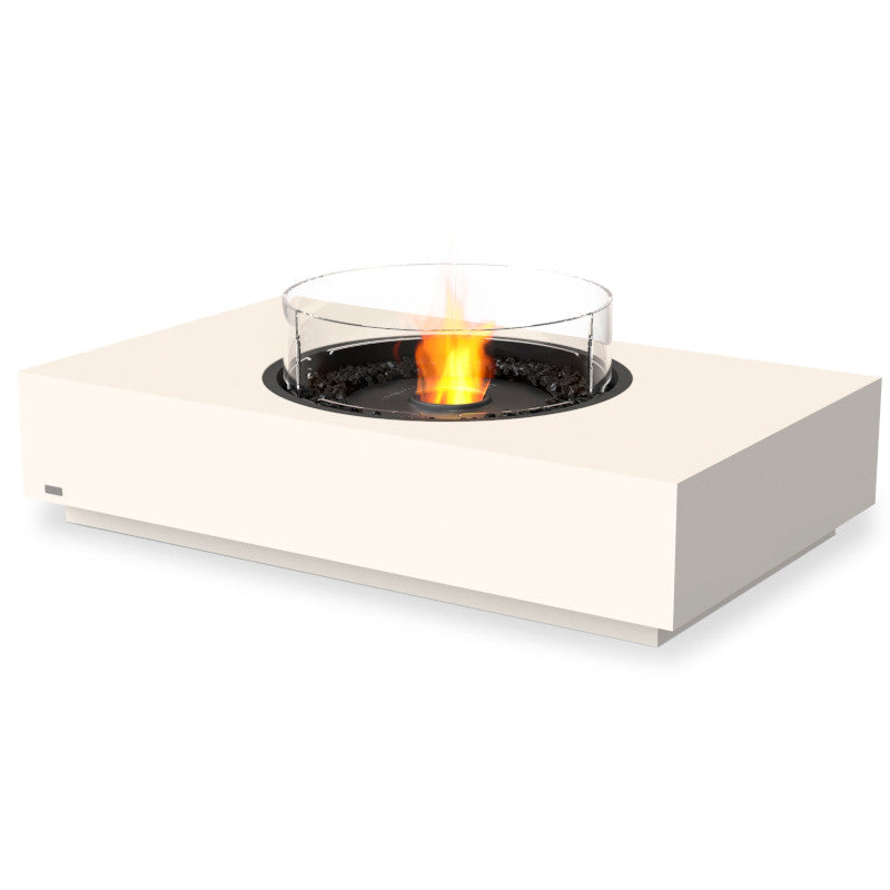 martini 50 ethanol fire pit table bone black