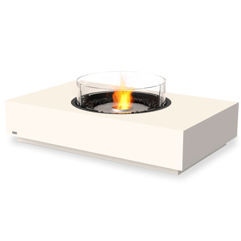 martini 50 ethanol fire pit table bone