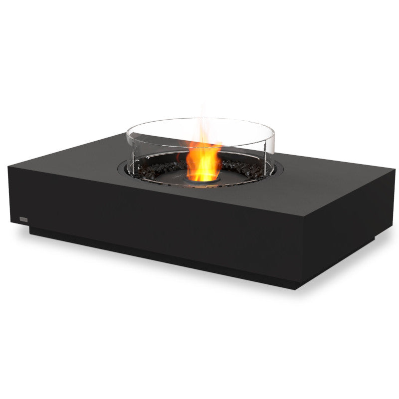 martini 50 ethanol fire pit table graphite black
