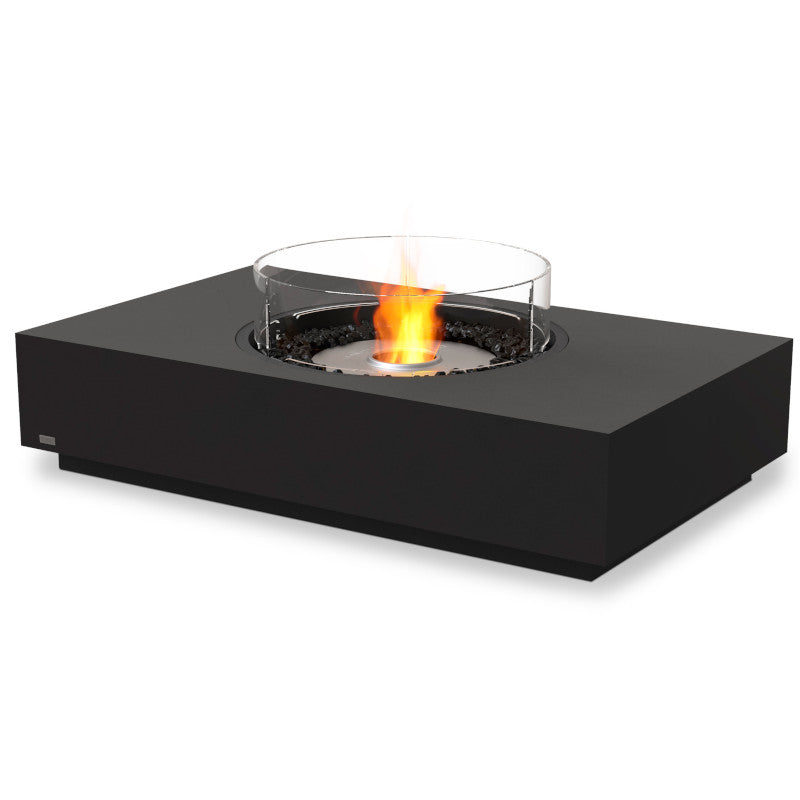 martini 50 ethanol fire pit table graphite