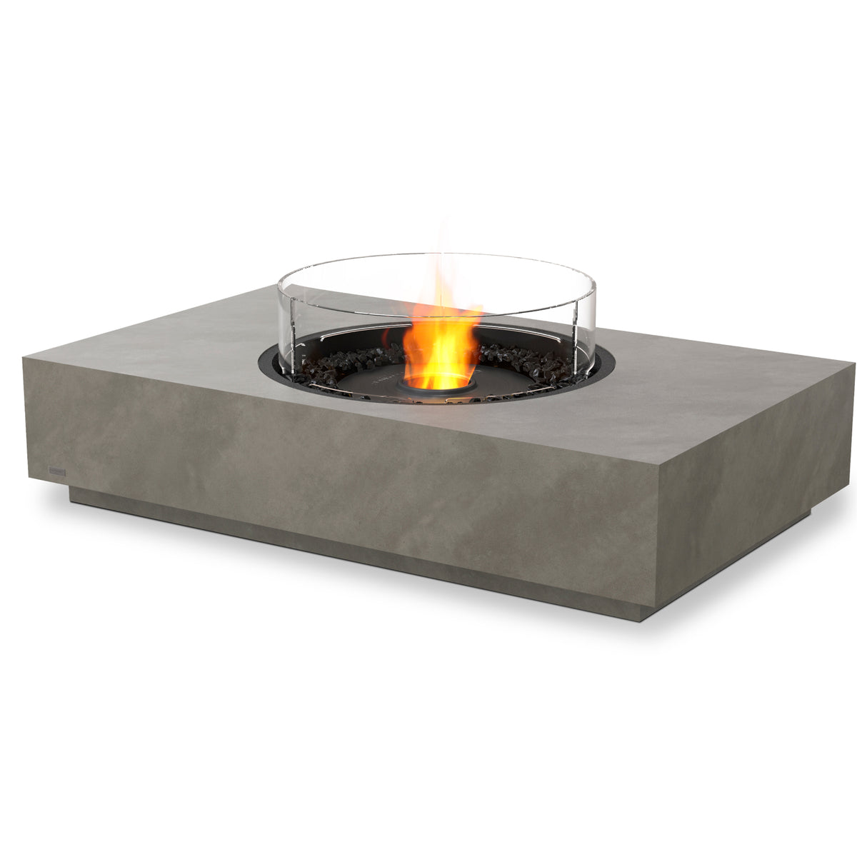 martini 50 ethanol fire pit table natural black