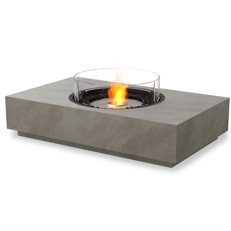 martini 50 ethanol fire pit table natural