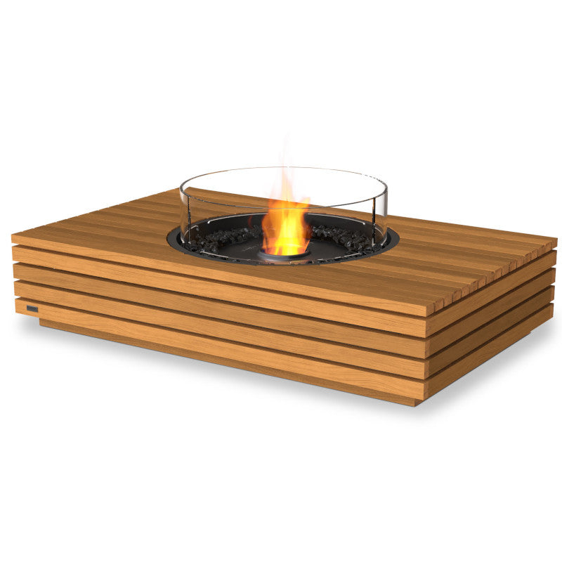 martini 50 ethanol fire pit table teak black
