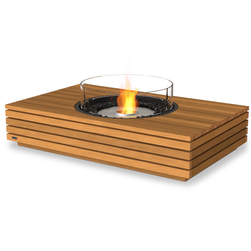 martini 50 ethanol fire pit table teak