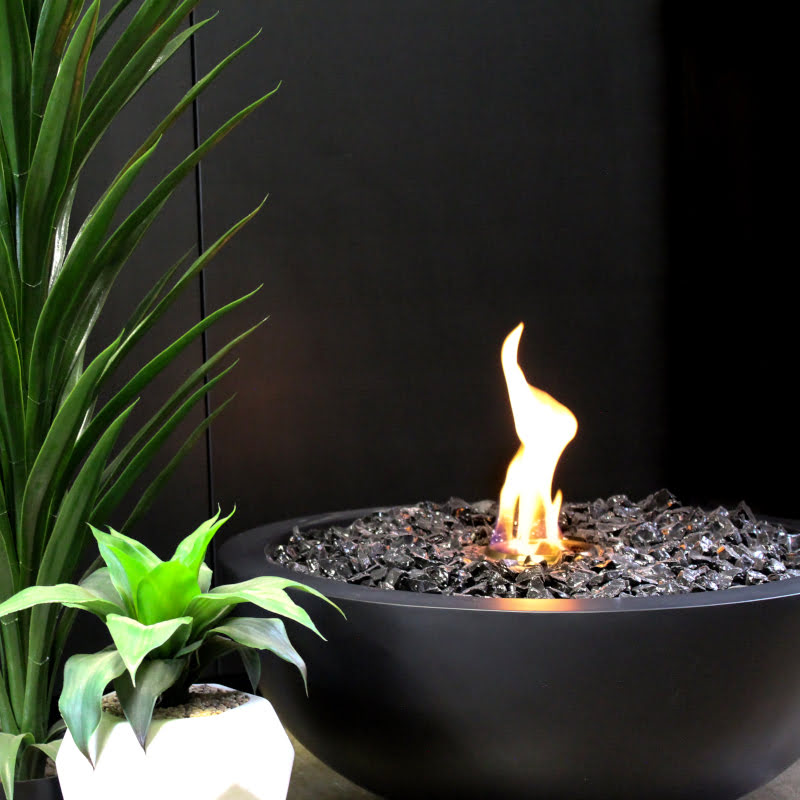 Mix 850 ethanol fire pit bowl graphite flame