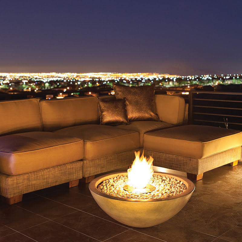 Mix 850 ethanol fire pit bowl lounge