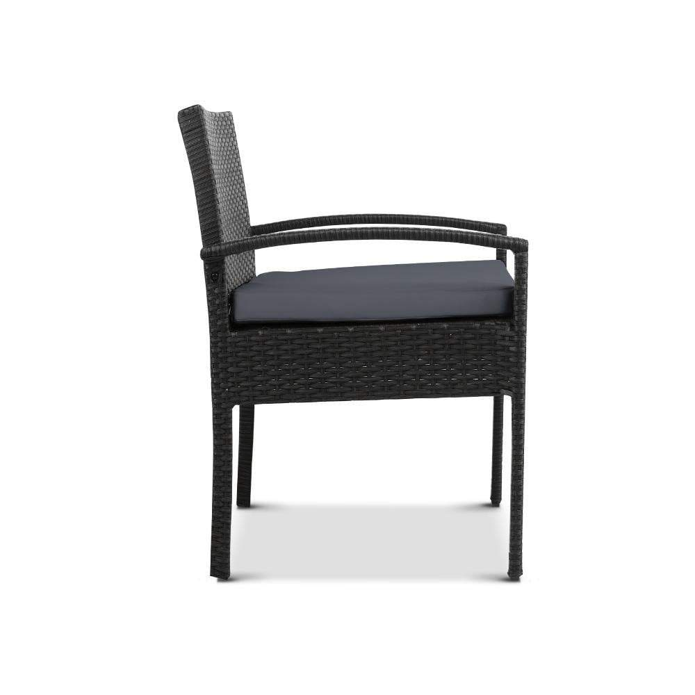 Dryden Outdoor Dining Chair, Black - Outdoor Living Essentials