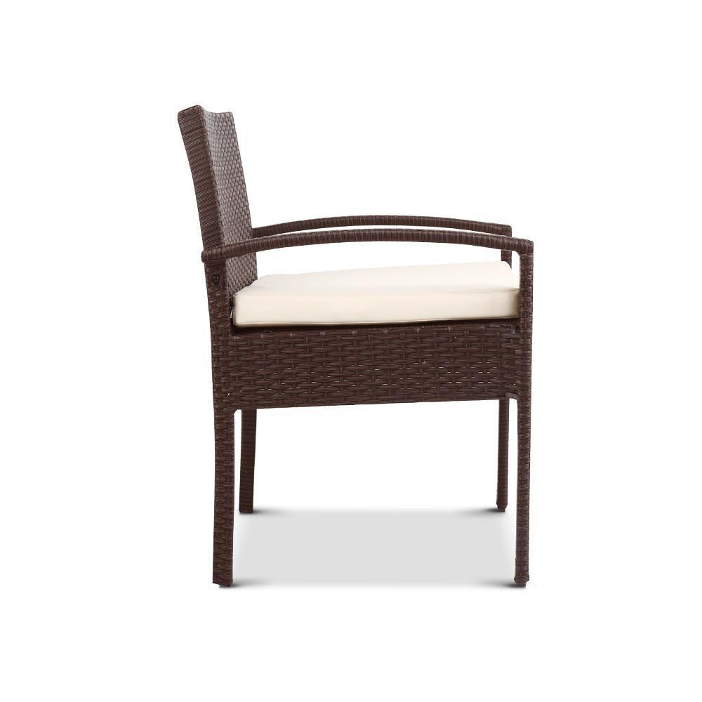 Dryden Outdoor Dining Chair, Brown - Outdoor Living Essentials