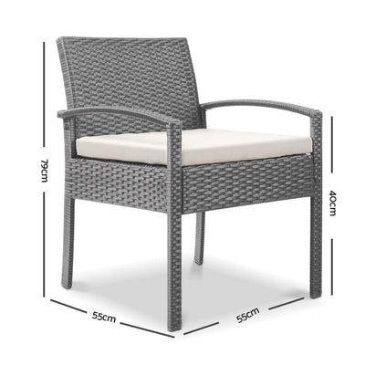 Dryden Outdoor Dining Chair, Grey - Outdoor Living Essentials