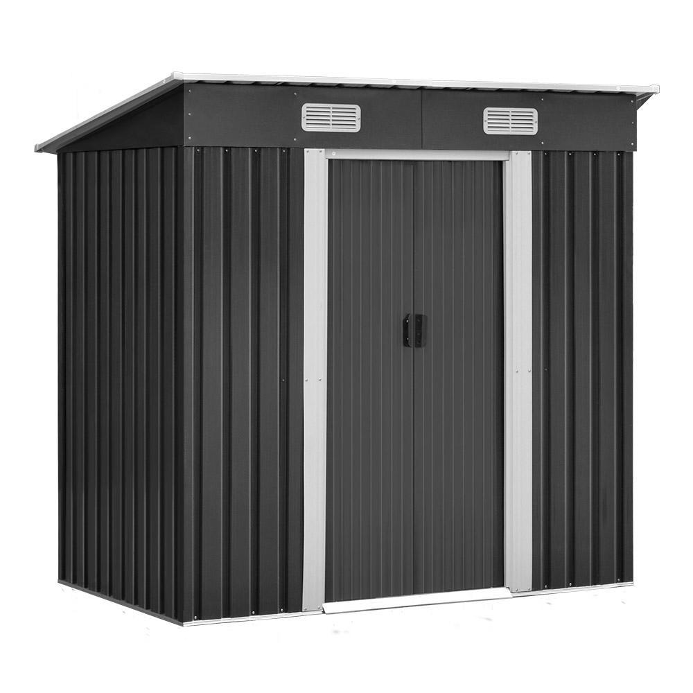 Melva Garden Shed with Steel Base, 1.94 x 1.21m - Outdoor Living Essentials