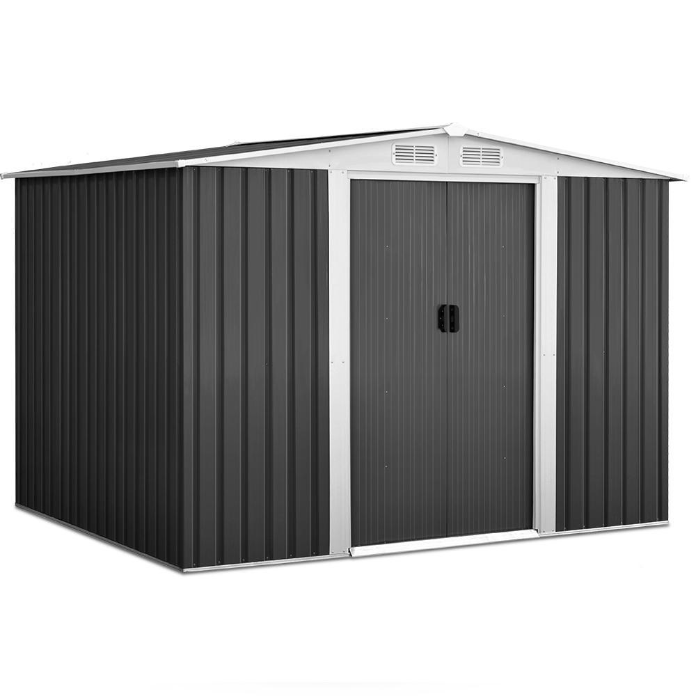 Cochran Garden Shed with Steel Base, 2.05 x 2.57m - Outdoor Living Essentials