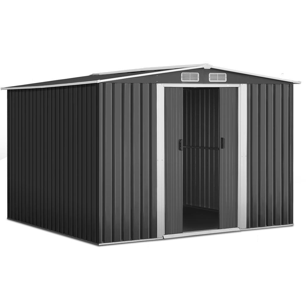 Cochran Garden Shed with Steel Base, 2.57 x 2.57m - Outdoor Living Essentials