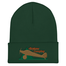 Load image into Gallery viewer, Airplane Camping Cuffed Beanie