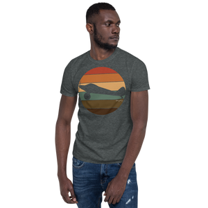 Retro Sunset Ghost Bush Plane Short-Sleeve Unisex T-Shirt