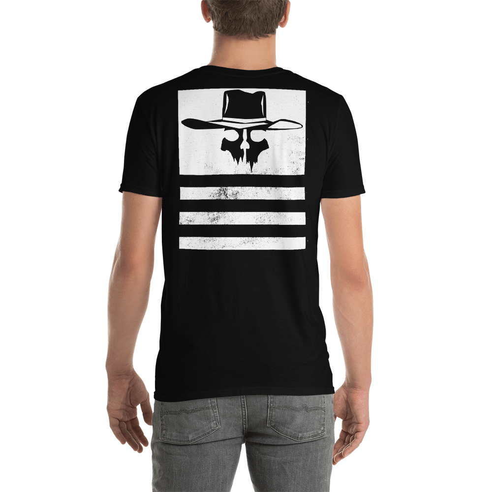 Back Print Distressed Flying Cowboys