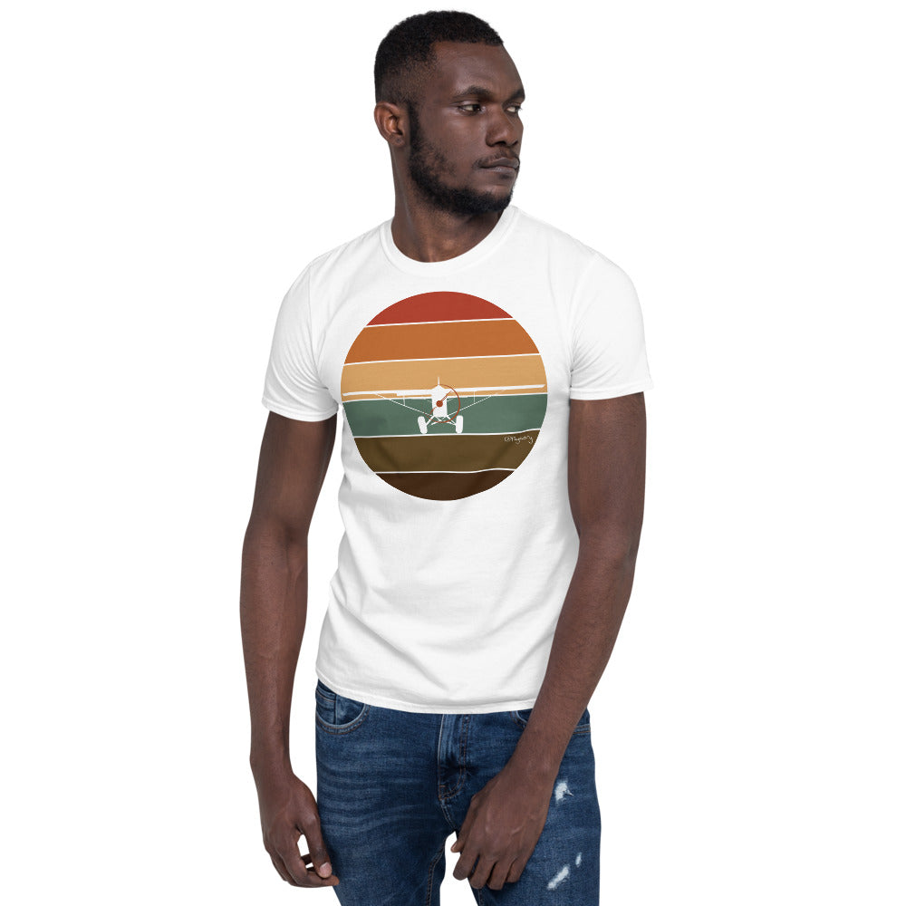 Retro Sunset Supercub Frontal Short-Sleeve Unisex T-Shirt