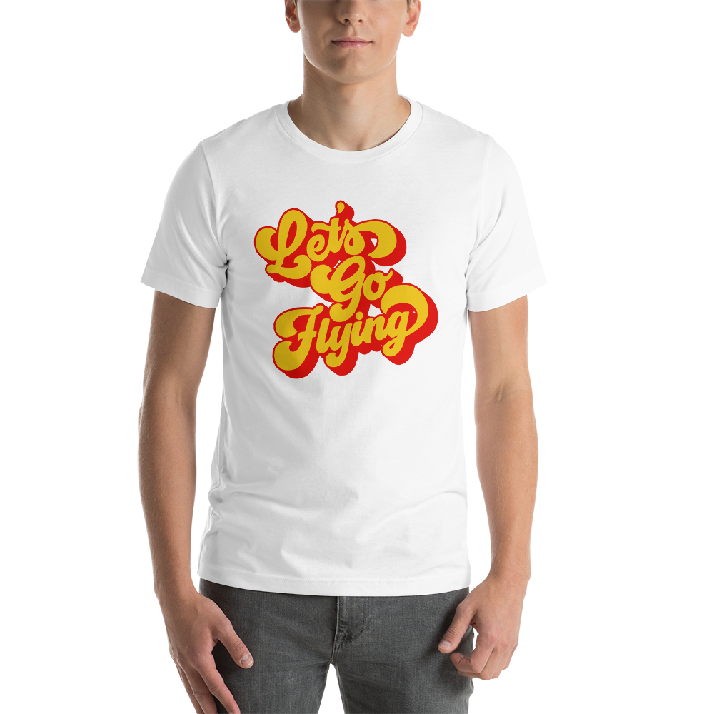 Retro Let's Go Flying! T-shirt