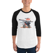 "Load image into Gallery viewer, Cory's ""Ghost"" 3/4 sleeve raglan shirt"