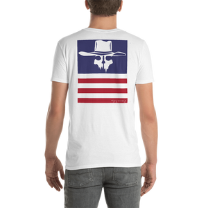 "Back Print Flying Cowboys ""Stripes""  T-Shirt"