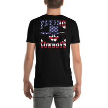 Load image into Gallery viewer, Back Print Flying Cowboys Stars and Stripes T-Shirt