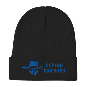 Flying Cowboys Blue on Black Knit Beanie